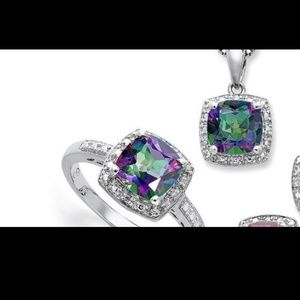 Mystic topaz ring 7 and pendant